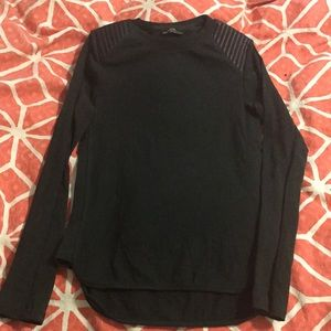 Zara Long Sleeve with Faux Leather Shoulder pads